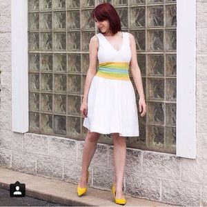 DVF White Striped Dress